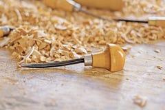 Drewniany pracujący narzędzie Fotografia Royalty Free