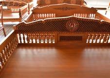 Drewniany projekt rzeźbiący Fotografia Royalty Free