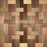 Drewniany prostokątny parkietowy brogujący dla bezszwowego tła Fotografia Royalty Free