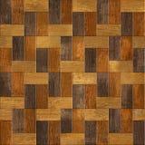 Drewniany prostokątny parkietowy brogujący dla bezszwowego tła Obraz Stock