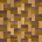 Drewniany prostokątny parkietowy brogujący dla bezszwowego tła Obrazy Royalty Free