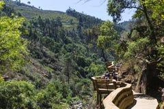 Drewniany przejście wokoło góry Zdjęcia Stock