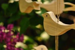 Drewniany ptak fotografia stock