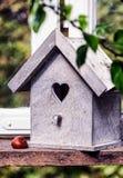 Drewniany ptaka dom Zdjęcie Royalty Free