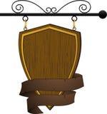 drewniany pubu cukierniany znak Zdjęcia Stock