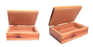 Drewniany pudełko fotografia royalty free