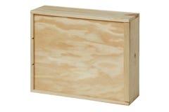 Drewniany pudełko dla butelek wino Biały tło Fotografia Royalty Free
