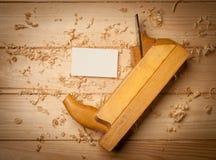 Drewniany pudełko dla twój pakować Fotografia Royalty Free