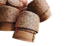 drewniany pudełkowaty ryżowy Thailand obrazy stock