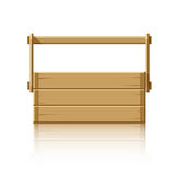 Drewniany pudełko dla narzędzi Zdjęcie Royalty Free