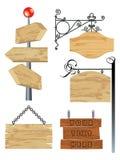drewniany pusty inkasowy signboard ilustracji