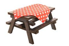 drewniany pykniczny stół Zdjęcie Royalty Free
