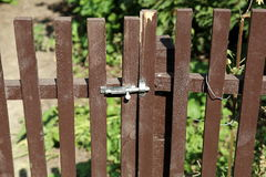Drewniany pytlowy ogrodzenie obraz royalty free