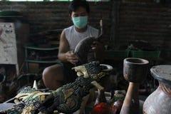 Drewniany rękodzieło batik Fotografia Stock