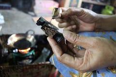 Drewniany rękodzieło batik Obraz Royalty Free