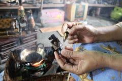 Drewniany rękodzieło batik Obrazy Royalty Free