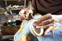 Drewniany rękodzieło batik Obraz Stock