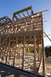 drewniany ramowy dom Zdjęcia Stock