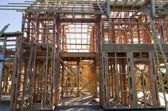drewniany ramowy dom Obrazy Royalty Free