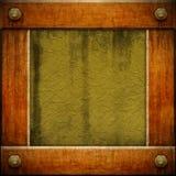 drewniany ramowy grunge Zdjęcia Royalty Free