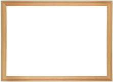 drewniany ramowy obraz Zdjęcia Royalty Free