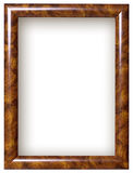 drewniany ramowy obrazek Obrazy Stock