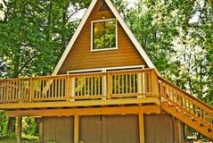 drewniany ramowy pokładu dom zdjęcia stock