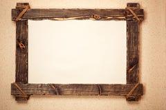 drewniany ramowy rocznik zdjęcia stock