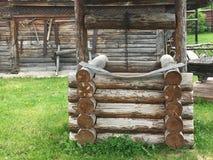 Drewniany rocznika rosjanina well Zdjęcie Stock