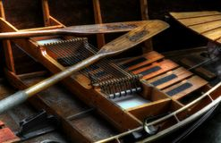 Drewniany Rowboat I wiosła Zdjęcie Royalty Free