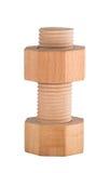 Drewniany rygiel z śrubową dokrętką Obraz Royalty Free