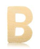 Drewniany rzeźbiący abecadło list, b Zdjęcia Stock