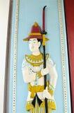 drewniany rzeźbiący drzwi Obraz Stock