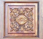drewniany rzeźbiący ornament Fotografia Stock