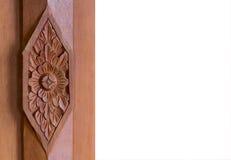 Drewniany rzeźbiący Tajlandzki styl Zdjęcie Royalty Free