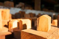 Drewniany rzemiosło z słońca światłem Zdjęcie Royalty Free