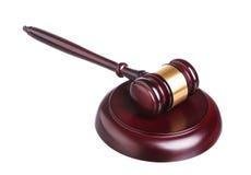 Drewniany sędziego młoteczek, soundboard i Fotografia Stock