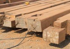 Drewniany słup obraz stock