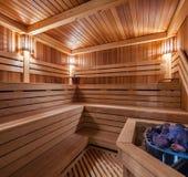 Drewniany sauna Zdjęcia Royalty Free