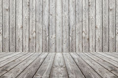 Drewniany sceny tło, podłoga i Pudełkowate drewniane szarość deski Obrazy Stock