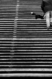 Drewniany schodek Zdjęcie Royalty Free
