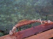 Drewniany schodek Obrazy Royalty Free