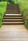 Drewniany schodowy sposób Zdjęcie Stock