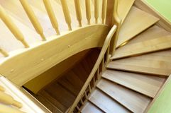 Drewniany schody Obrazy Stock