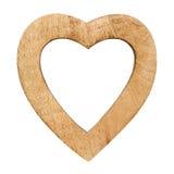 Drewniany serce Zdjęcie Royalty Free
