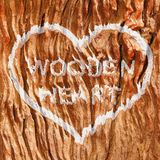 Drewniany serce Obraz Stock