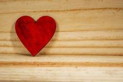 Drewniany serce Fotografia Stock