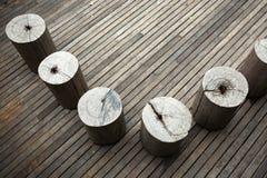 Drewniany siedzenie na drewnianej podłoga fotografia royalty free