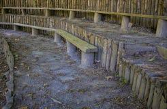drewniany siedzenie w dżungli obrazy stock