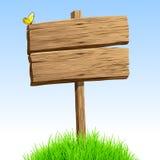 Drewniany signboard Zdjęcie Stock
